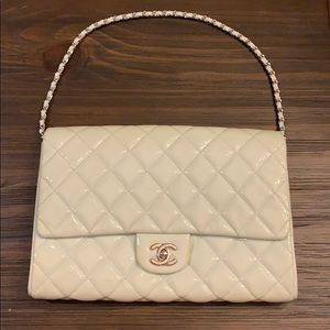 Chanel Dark White Colored Flapbag